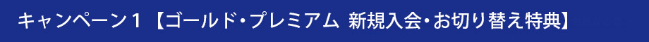キャンペーン1【ゴールド・プレミアム新規入会・お切り替え特典】画像